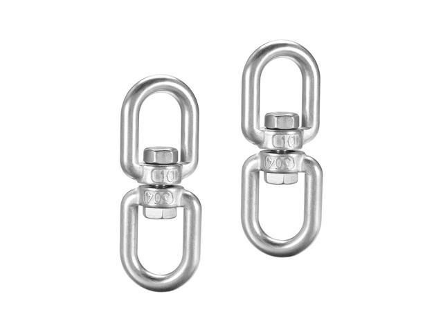 M6 Swivel Eye Round Double End Swivel Lifting Ring 15//64 in Stainless Shackle Connector Bolts Eye to Eye 10 Pieces