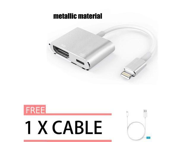 competitive price 40892 0f442 Lighting to HDMI Adapter Cable, Lightning Digital AV Adapter for iPhone  X/8/7/6/5 Series, Pad Air/mini/Pro, HDTV Adapter 1080P (Support IOS 11 - ...