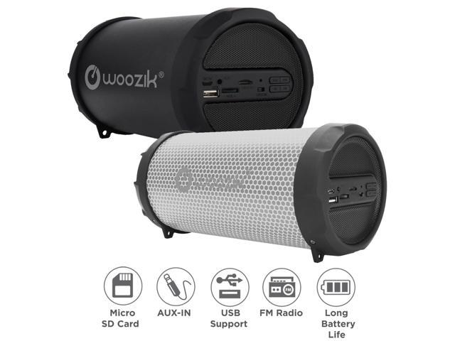 Woozik Rockit Go / S213 LED Portable Bluetooth Outdoor Indoor Hi-Fi  Wireless Speaker Boombox with Dancing LED Lights, FM Radio, SD Card,AUX  3 5mm, USB