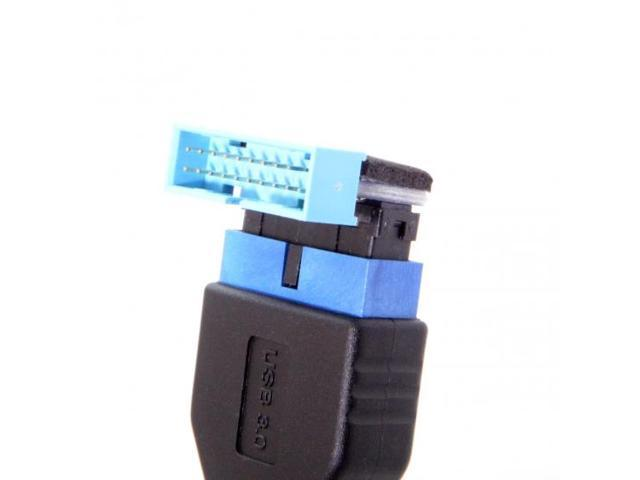 USB3.0 20pin Male to Female Extension Adapter Up Down Angled 90 Degree Mainboard