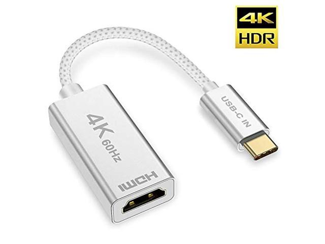 USB C to HDMI Adapter,USB 3 1 Type C to HDMI Thunderbolt 3 Compatible, for  MacBook Pro 2018/2017, Dell XPS 15/13, Surface Book 2, Samsung Galaxy