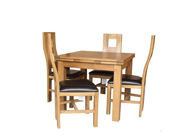 Trithi Furniture Newman Dining Set Table With Self Storing