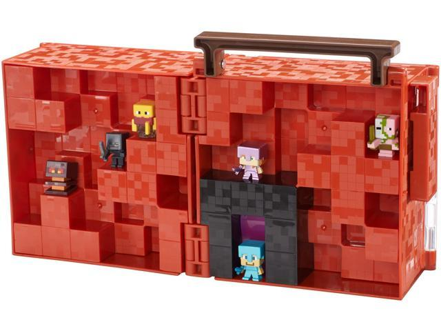 Minecraft Mini Figure Collector Case Video Consoles Games Safely Store /& Displa
