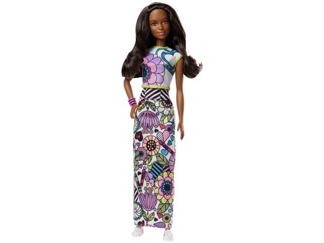 Barbie Crayola Color In Fashion Doll Fashions Newegg Com