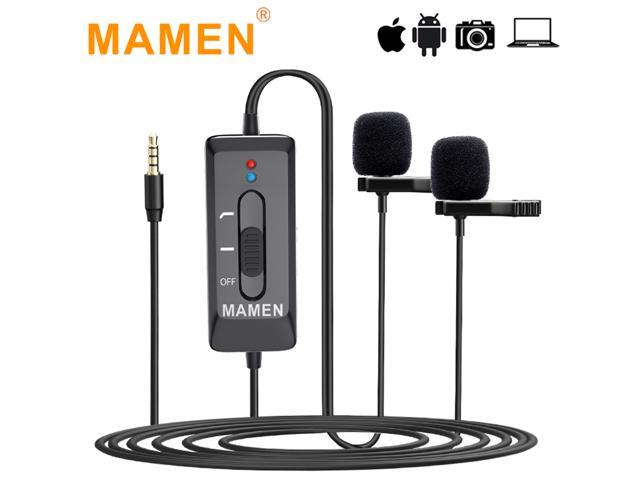 MAMEN KM-D2/KM-D2 Pro 3.5mm Lavalier Microphone Professional Mic - Sale: $23.69 USD