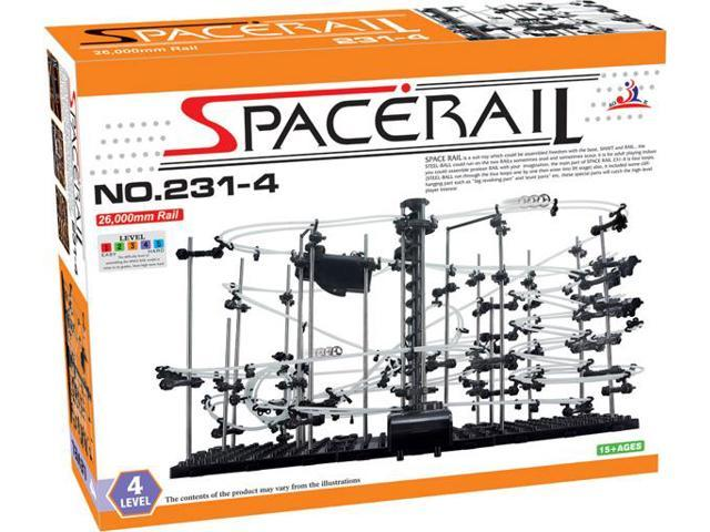 SpaceRail Game 30,000mm Rail Marble Roller Coaster Kit with Steel Balls Great Educational Toy for Boys and Girls Roller Coaster Building Set Level 5
