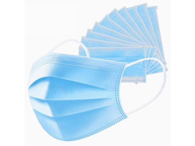 50 pcs Non Woven Disposable Face Respirator Mask 3 Layer Earloop Activated Carbon Anti-Dust Proof Mouth Mask