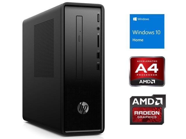 Hp Slimline 290 Desktop Amd A4 A4 9125 Upto 2 6ghz 8gb Ram 128gb Ssd Dvdrw Hdmi Vga Card Reader Wi Fi Bluetooth Windows 10 Home Newegg Com