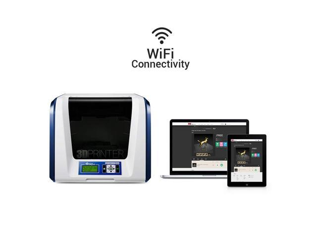 "[Laser Engraver Kit] da Vinci Jr  1 0 3-in-1 Wireless 3D Printer/3D Scanner  ~ 6"" x 6"" x 6"" Volume (PLA/Tough PLA/PETG/Antibacterial PLA) - Fully"