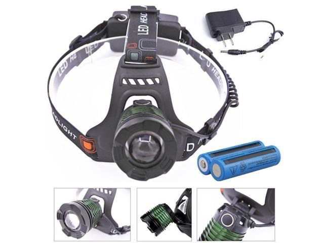 Tactical 90000lm T6 LED Rechargeable Headlamp Flashlight with Charger