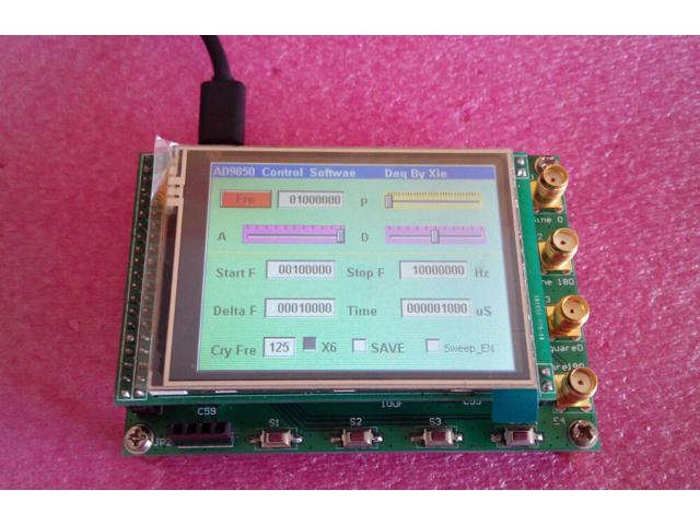 New 40MHz LCD AD9850 DDS Signal Generator Ramp FSK STM32F103 Controller  Board - Newegg com