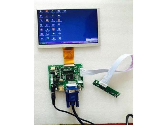 "9 Inch 9/"" TFT LCD Display Module HDMI+VGA+2AV Driver Board for Raspberry Pi"
