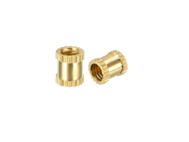 Pack of 100 knurled Threaded Insert Brass Insert Nuts with Female Thread M3 x 3 mm L x 5 mm OD