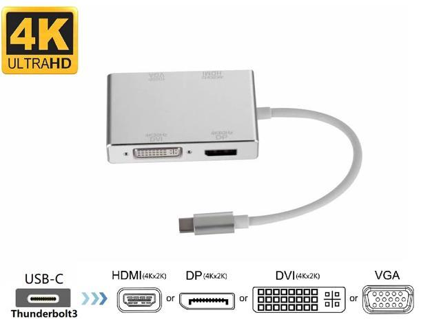 Light Weight and Easy to Carry ,Small Size DVI Female Square Adapter Black Cable Length: 18cm Color : White Chengcunxing It is a Perfect Choice for You 3 in 1 Mini DP Male to HDMI VGA