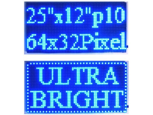 """25/""""x 6.5/"""" LED Sign Programmable Scrolling Window Message Display Red Color P10"""