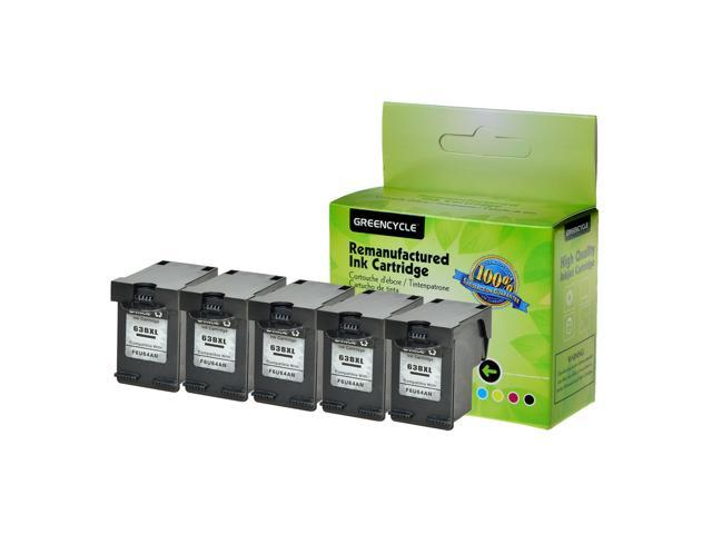 4PK Black /& 1PK Color Ink Cartridges For HP 63XL Deskjet 2131 2133 3631 3636