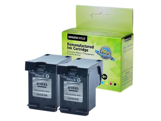 2PK Black+1PK Color Compatible with Ink for HP 61XL DeskJet 1510 1512 2000 2050