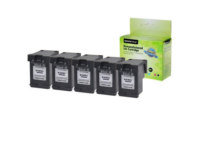 5PK Black Ink Cartridge Compatible with HP 65XL 65 XL N9K04AN Deskjet 3755 3758