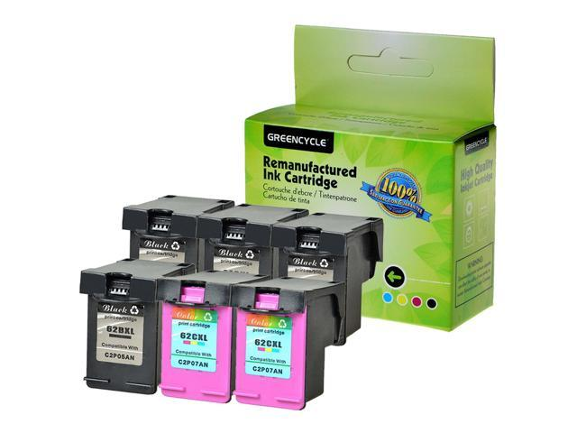 2x Black+1x Color 62XL Ink For HP C2P05AN C2P07AN ENVY 5540 5643 5660 7640 7645