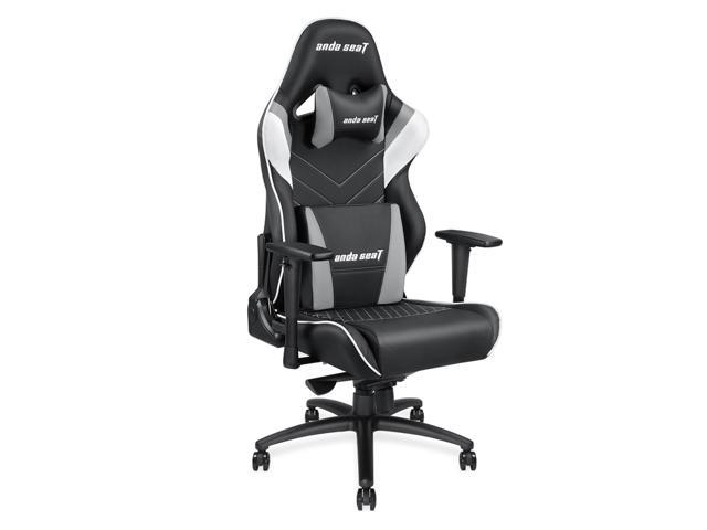 Enjoyable Anda Seat Assassin King Series Big And Tall Gaming Chair High Back Desk And Office Chair 400Lb With Lumbar Support And Headrest Black White Grey Gamerscity Chair Design For Home Gamerscityorg