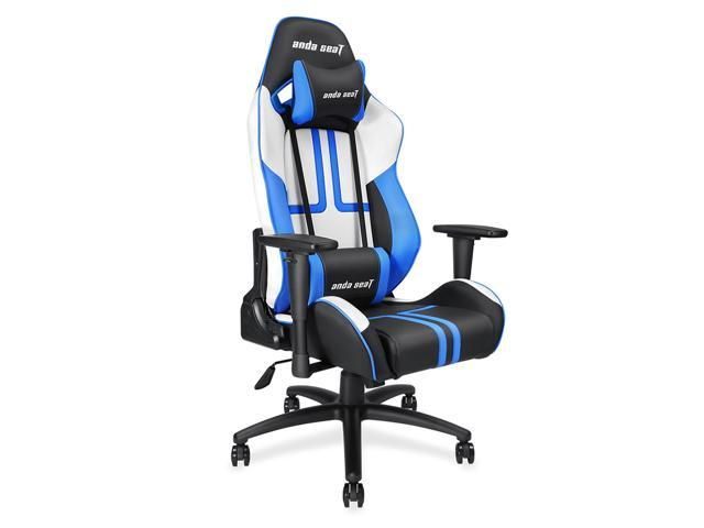 Marvelous Anda Seat Viper Series Large Size Gaming Chair Swivel Rocker Tilt E Sports Recliner Office Chair With Pillows Black White Blue Ad7 05 Bws Pv Machost Co Dining Chair Design Ideas Machostcouk