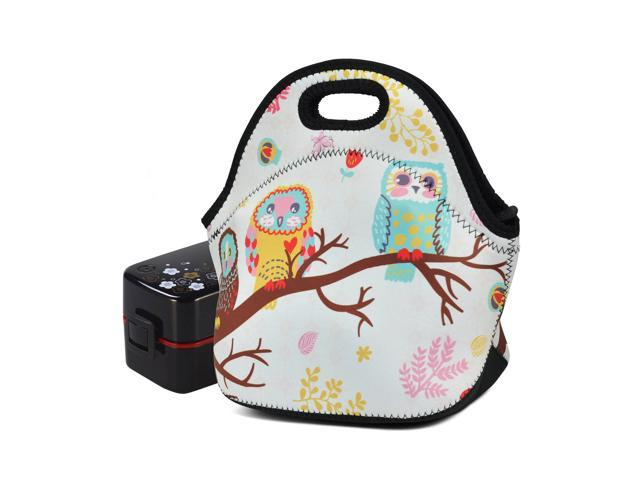 6aca8c657fdf Lunch Box Kids Insulated Neoprene for Women and Men Lunch Tote Bag Travel  Outdoor Waterproof Storage Containers Bags Owls - Newegg.com