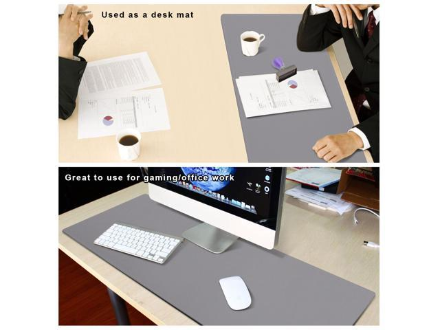 ZFMG PU Leather Mouse Pad Smooth Writing Blotter 55x28inch Dual Sided Waterproof PU Leather Extended Mouse Pad for Gaming Desk Decor Non-Slip Spill-Resistant,D,140x70cm