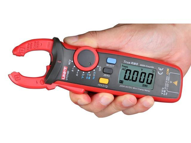 Clamp Meter Multimeter UT210D Digital AC//DC Current Voltage Resistance Capacitance Clamp Meter Multimeter Temperature Measurement Auto Range