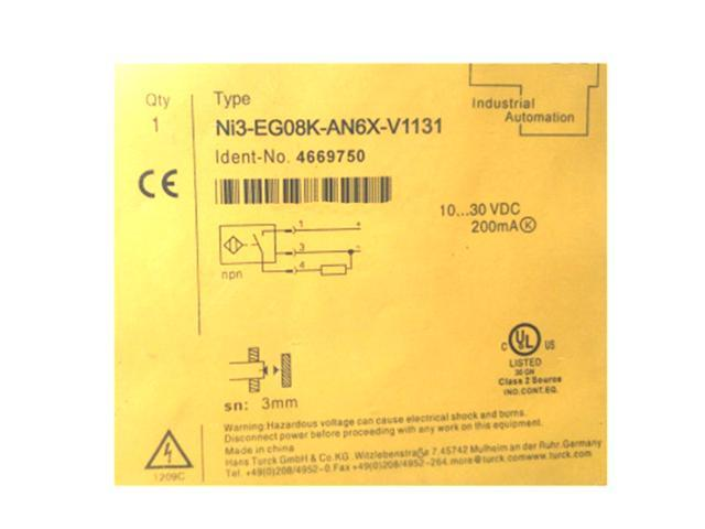 TURCK Ni3-EG08-AP6X-V1131 Inductive Proximity Sensor