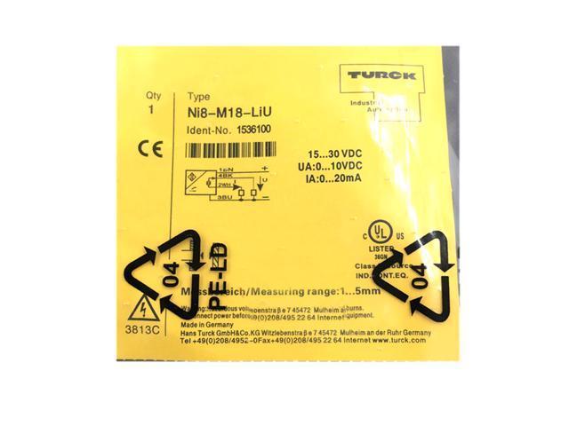 ONE NEW TURCK Sensor NI8-M18-LIU 1536100