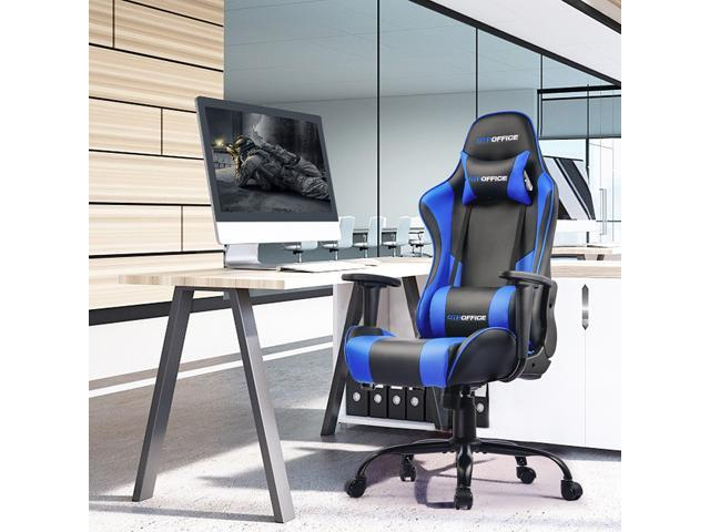 GTPOFFICE Gaming Chair Massage Office Computer Chair for Adult Reclining
