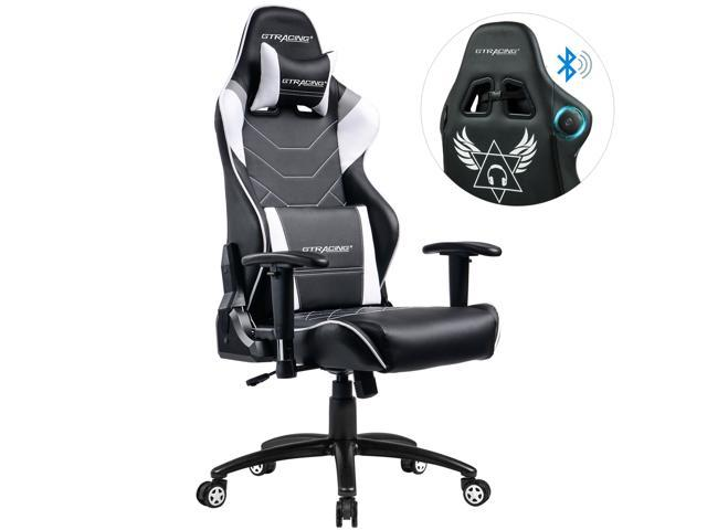 GTRACING Music Gaming Chair with Bluetooth Speakers Patented Audio Racing  Office Chair Heavy Duty 400lbs Ergonomic Multi-Function E-Sports Chair for