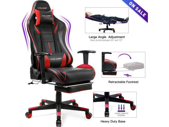 Awesome Gtracing Gaming Chair Ergonomic Office Chair With Footrest Heavy Duty E Sports Chair For Pro Gamer Seat Height Adjustable Multifunction Recliner With Bralicious Painted Fabric Chair Ideas Braliciousco