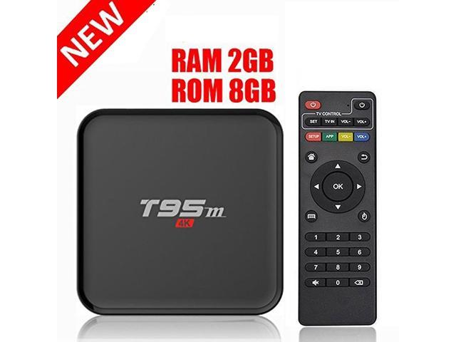 HONGYU T95M 2G/8G Android 6 0 Smart TV Box Amlogic S905X Quad Core with  2 4G Wifi 100M Ethernet LAN 4K Ultra HD 3D OTT TV Media Player - Newegg com