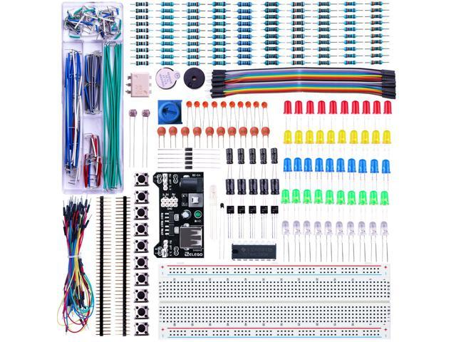 Electronics Component Fun Kit W//Power Supply Module Jumper Wire 830 Tie Points B