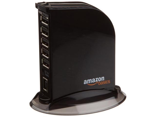 AmazonBasics 7 Port USB 2 0 Hub Tower with 5V/4A Power Adapter - Newegg com