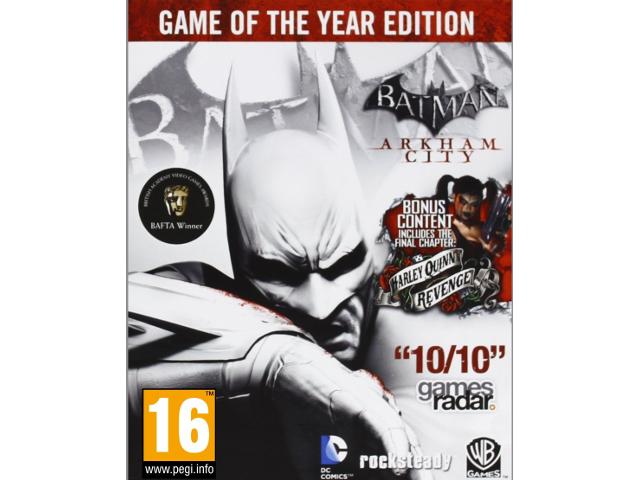Batman: Arkham City Game of the Year Edition [PC Download] - STEAM Digital  Code - Newegg com
