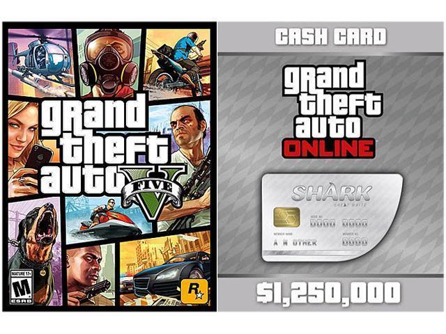 Grand Theft Auto V + Great White Shark Cash Card [PC Download] Rockstar  Social Club Digital Code - Newegg com