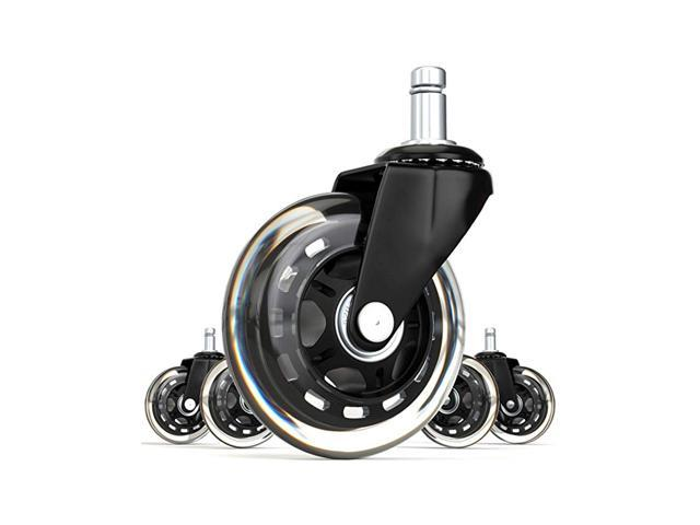 Set of 5 Heavy Duty Casters /& Safe Fit for Chairs Awefrank Office Chair Wheels Universal Replace Office Chair Casters Rubber Office Chair casters for Hardwood Floors and Carpet