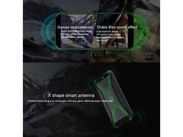 Xiaomi BLACK SHARK Helo 8GB+128GB Global Official Version Qualcomm  Snapdragon 845 Octa Core up to 2 8GHz - Newegg com