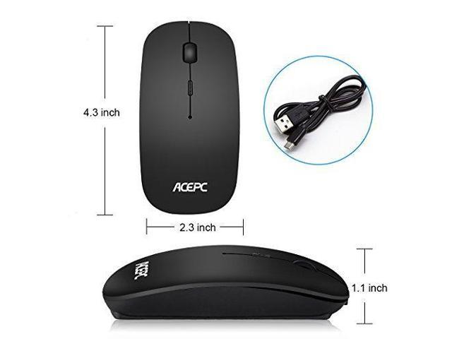 Bluetooth Wireless Mouse,ACEPC Rechargeable Computer Mouse with 3  Adjustable DPI Level for Mac,Laptop,Android Tablet,PC - Black - Newegg com