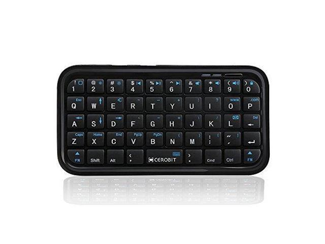CEROBIT Wireless Bluetooth Mini Handheld Keyboard for iPad Mac Android TV  Box PS4 PC Laptop Smartphone Tablet HTPC, Rechargeable Li-ion Battery -