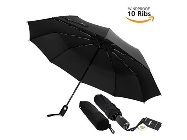10 Ribs Automatic Wind Waterproof Umbrella Auto Open//Close Foldable Umbrella