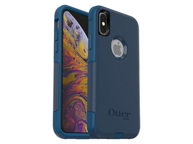 more photos a9598 ffc1b OtterBox Commuter Series Case for iPhone Xs & iPhone X - Retail Packaging -  Bespoke Way (Blazer Blue/Stormy SEAS Blue) - Newegg.com