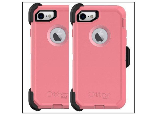 premium selection f383e 6b525 OtterBox Defender Series Case for iPhone 8 and iPhone 7 - Retail Packaging  - Rosmarine Way (Rosmarine/Pipeline Pink) - Newegg.com