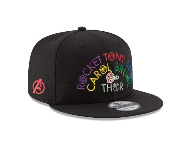 reputable site c7d55 28606 Marvel Comics The Avengers Names Endgame 9FIFTY Adjustable Hat