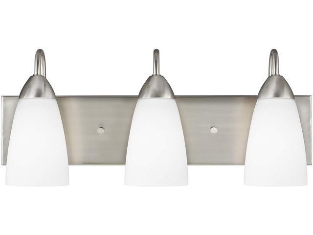 Sea Gull Lighting 44236 962 2 Light Brushed Nickel: Sea Gull Lighting 4420203-962 Three Light Wall/Bath