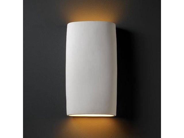 Justice Design Group Lighting Cer 8859 Bis Wall Sconce With Ceramic Bisque Shades White Newegg