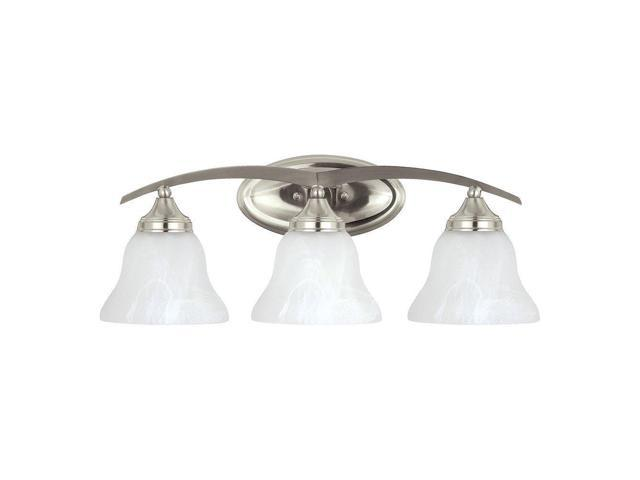 Sea Gull Lighting 44236 962 2 Light Brushed Nickel: Sea Gull Lighting 44176-962 Brockton Three-Light Bath Or