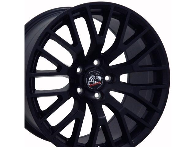 Oe Wheels 19 Inch Fits Ford Mustang 2005 2016 2015 Gt Style Fr19c Satin Black 19x10 Rim Hollander 10036 Newegg Com